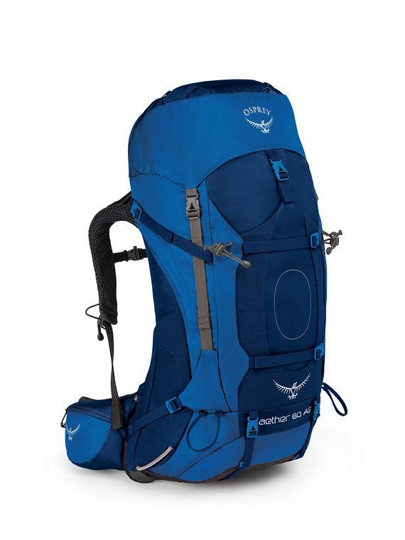OSPREY OSPREY AETHER AG 60 HIKING PACK WITH RAIN COVER