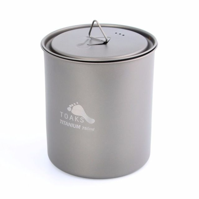 Toaks Titanium TOAKS TITANIUM POT  WITH LID 750ML NO HANDLE