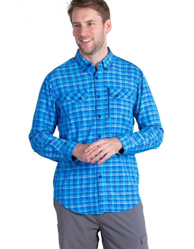 EXOFFICIO EXOFFICIO SOL COOL CRYOGEN PLAID L/S MEN'S