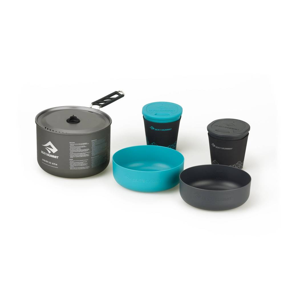 SEA TO SUMMIT SEA TO SUMMIT ALPHA 1 POT COOK SET 2.1 (1.9L POT PLUS 2 BOWLS AND 2 INSUL MUGS)