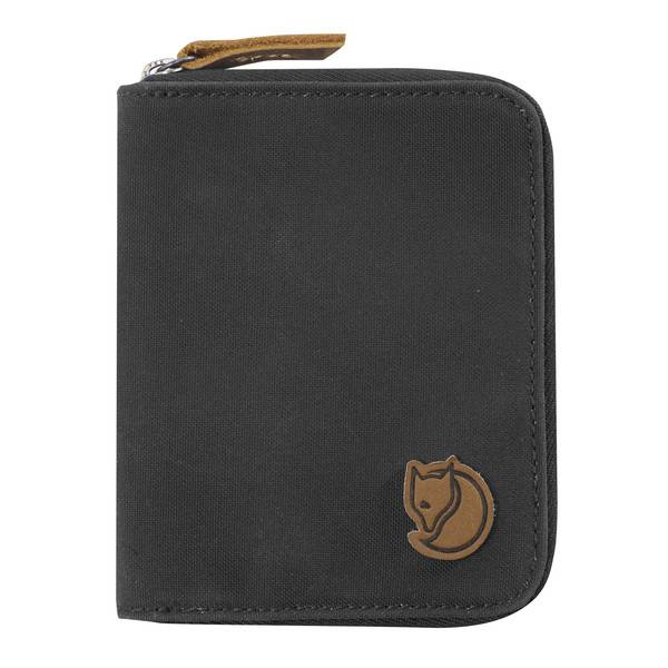 FJALLRAVEN FJALLRAVEN ZIP WALLET DARK GREY