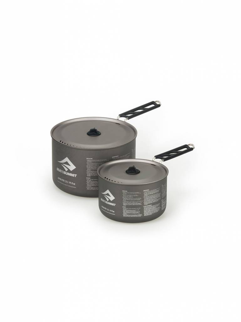 SEA TO SUMMIT ALPHA POT SET 1.2L AND 2.7L (1.2 PLUS 2.7L POTS)