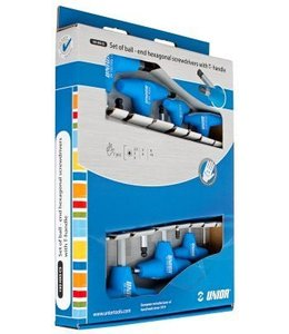 Unior Unior Box Set T Handle Ball End Hex Keys Professional 7pcs #609337