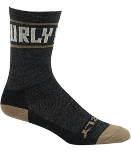 "Surly Surly Sports Logo 5"" Sock: Black/Cream Medium"