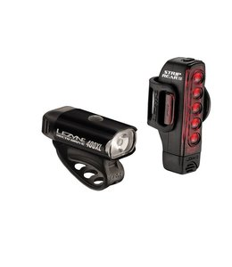 Lezyne Lezyne Lightset Hecto Front and Strip Rear Pair 400 Lumens