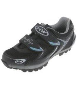 Northwave Northwave Womens MTB Shoe Elisir Silver/Blue/Black Size 38