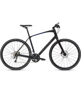 Specialized Specialized 18 Sirrus Elite Carbon Tarmac Black/Rocket Red/Acid Blue Fade/Charcoal Reflective Large