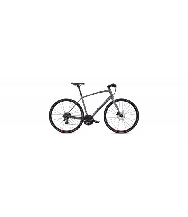 Specialized Specialized Men's Sirrus Alloy Disc Charcoal / Candy Red/Black Reflective Medium