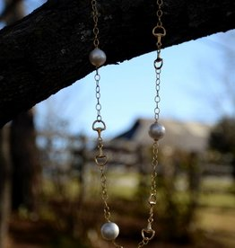 Gold Pearl Bit Necklace