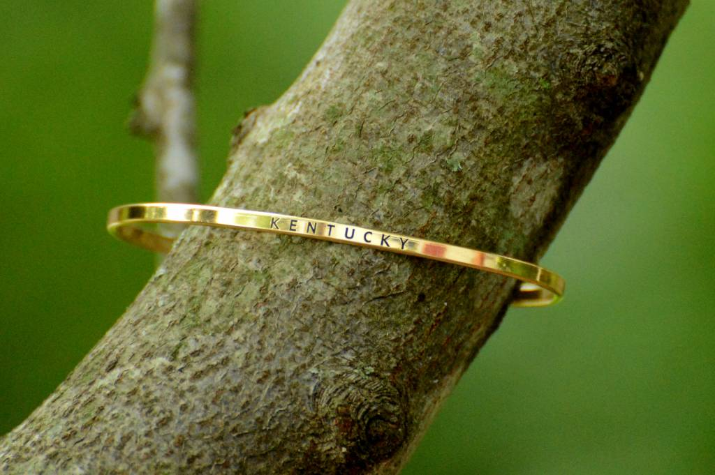 Gold Kentucky Bangle