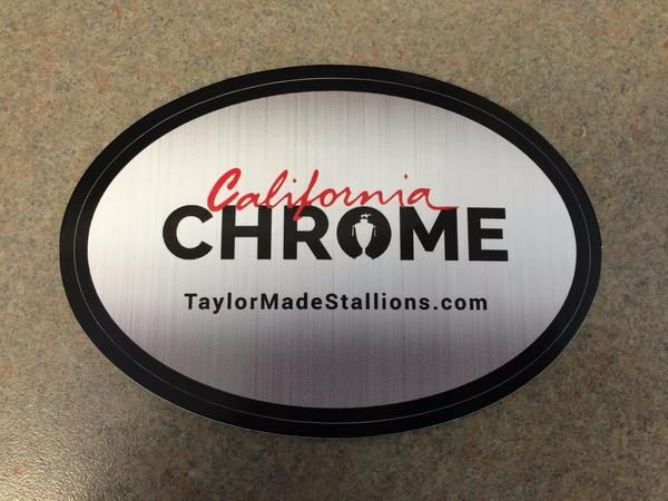 Chrome Logo Sticker