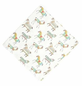 Pomegranate Lipizzan Waltz Napkin - Set of 4