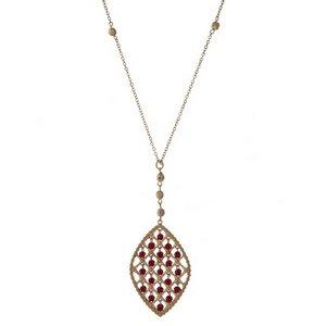 Judson & Company Crimson Pendant Necklace