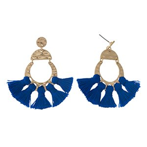 Blue Fan Earring