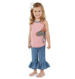 Mud Pie Horse Tunic Capri Set