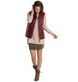 Mud Pie Crimson Quilted Vest - Ladies