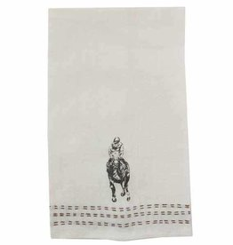 Pomegranate Man O War Linen Hand Towel (Set of 2)