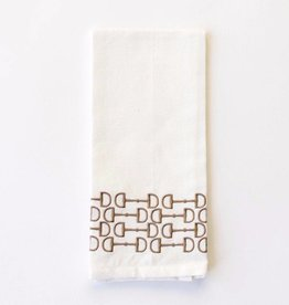 Pomegranate Brown Snaffle Bit Hand Towel