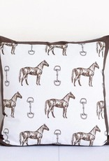 Pomegranate Horse & Snaffle Square Pillow