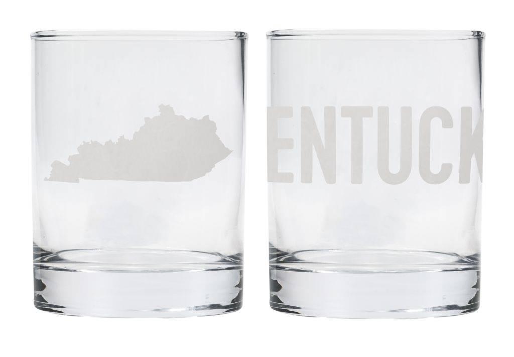 State of Kentucky Rocks Glass Set