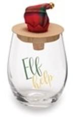 Mud Pie Christmas Wine Glass