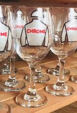 California Chrome Hand Painted Wine Glass