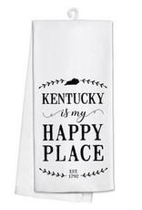 Kentucky Is My Happy Place Tea Towel