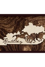 Grainwell KY Framed Wooded State with Race Horses