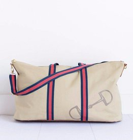 Pomegranate Snaffle & Stripe Weekender Bag