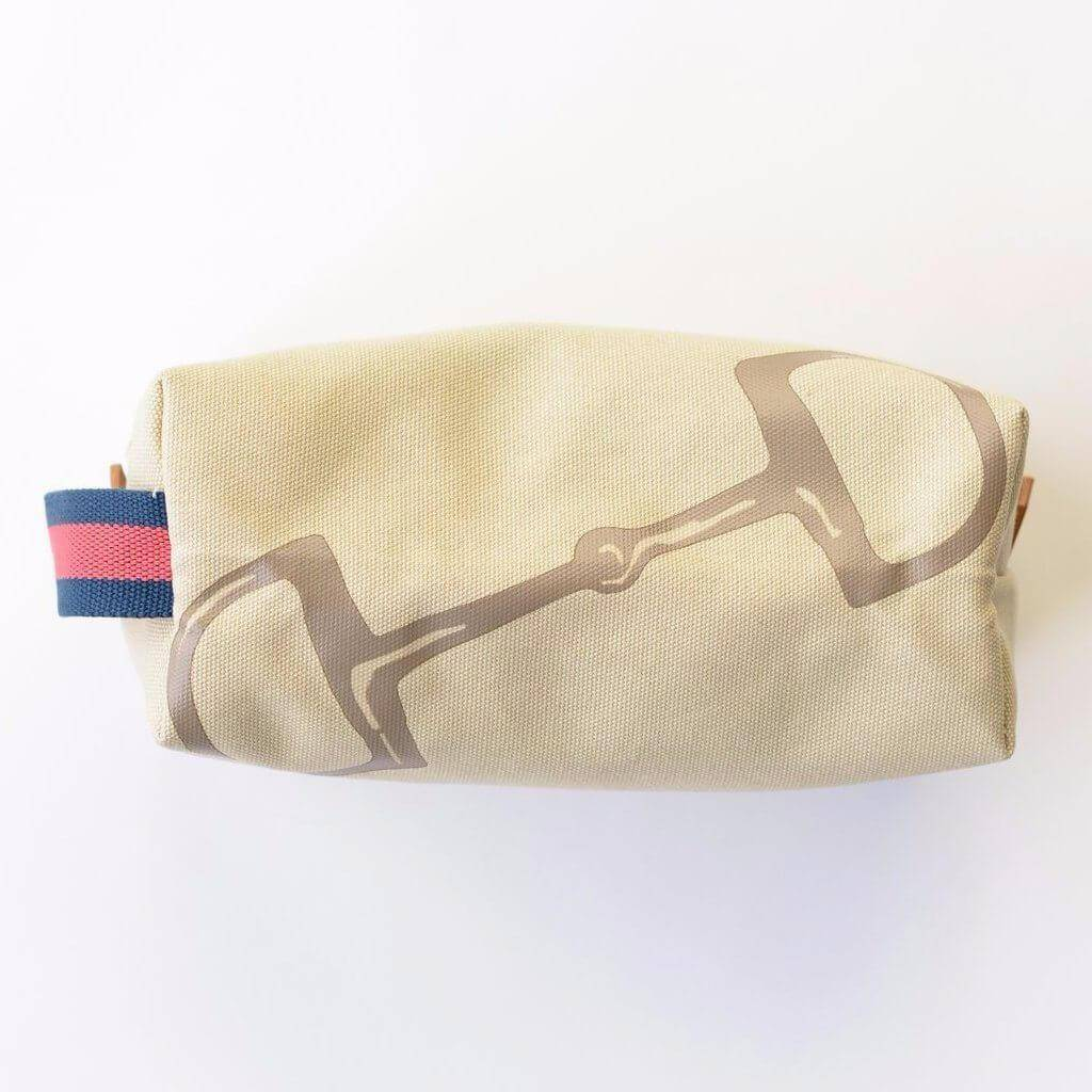 Pomegranate Snaffle & Stripe Dopp Kit