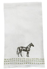 Pomegranate Thoroughbred Embroidered Linen Hand Towel