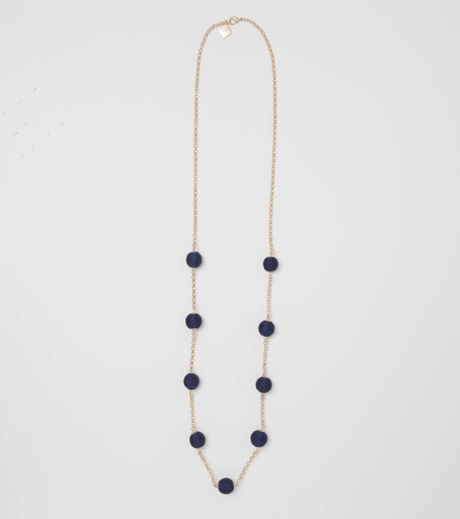 Long Wellington Necklace - Navy