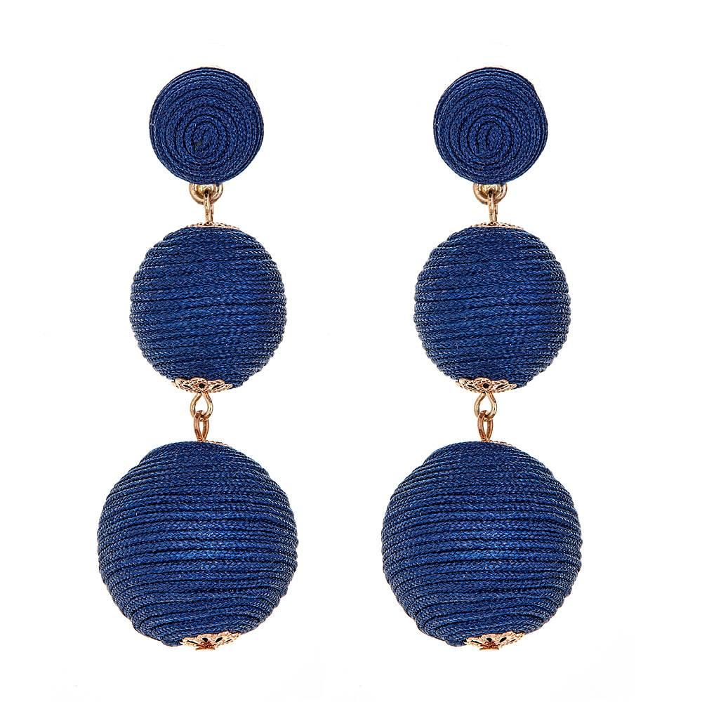 Wellington Earrings - Navy