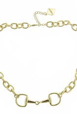 Horsebit Necklace, Gold