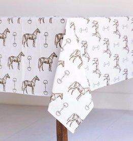 Pomegranate Horse & Snaffle Tablecloth (60x90)
