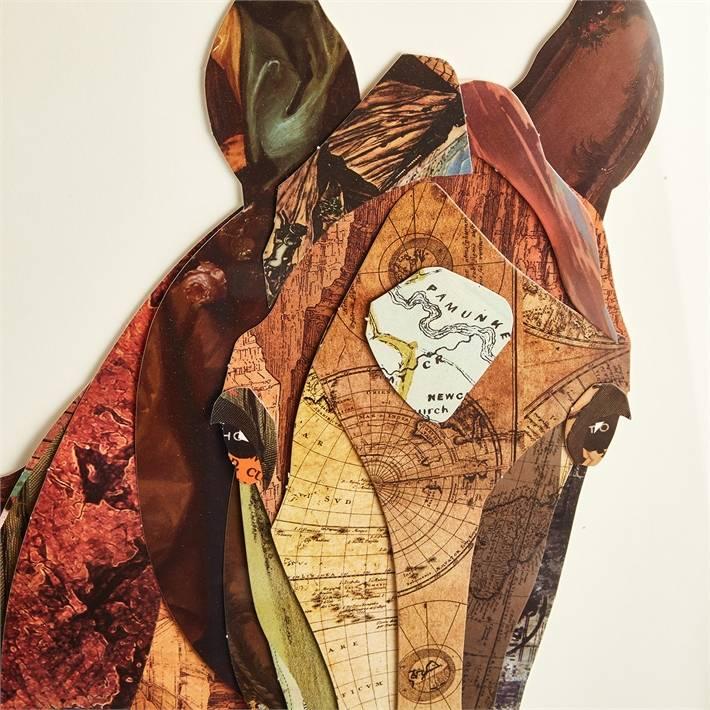 Front Facing Horse Collage Wall Art