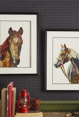 Side Facing Horse Collage Wall Art
