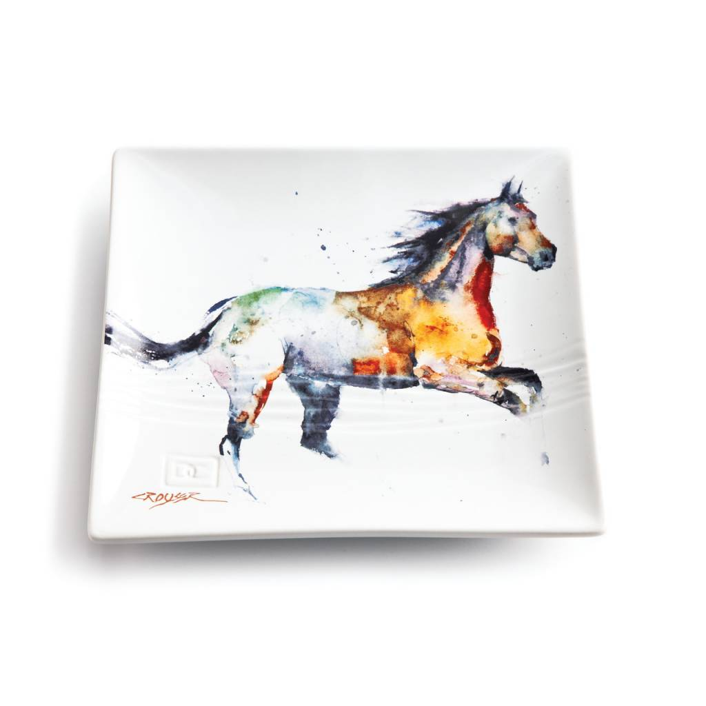 Running Horse Snack Plate