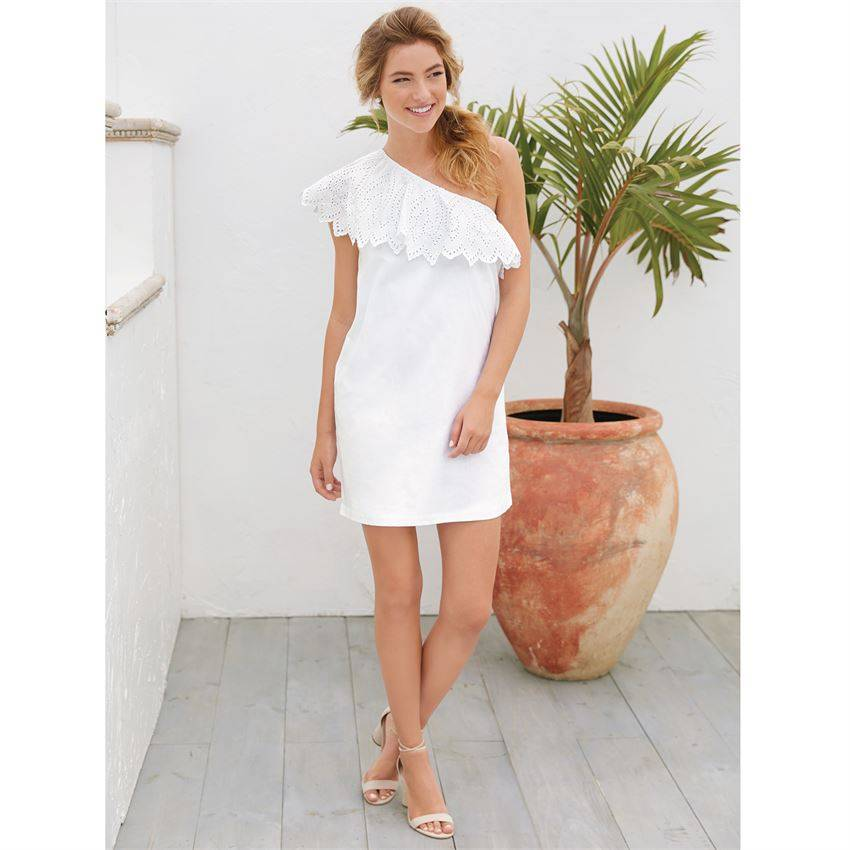 Mud Pie Laurel One-Shoulder Dress