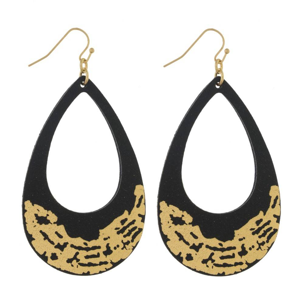 Judson & Company Drop Gold Brushed Earrings