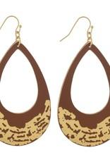 Drop Gold Brushed Earrings