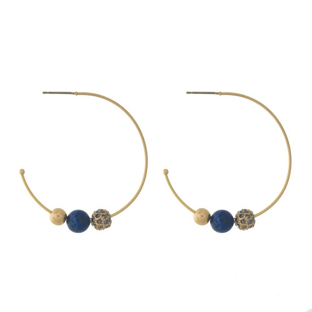 Judson & Company Ball Hoop Earrings