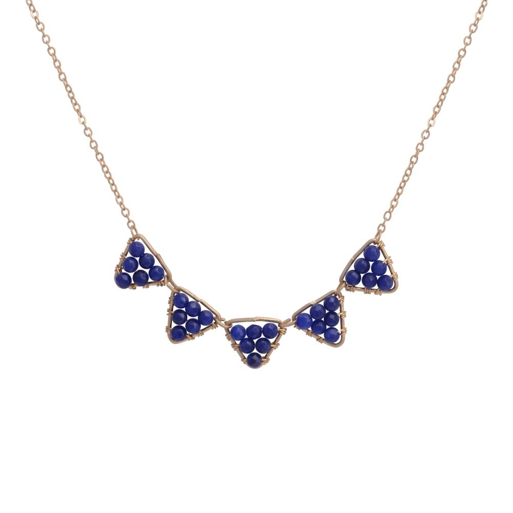 Judson & Company Blue Triangle Necklace