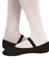 BODY WRAPPERS Tiler Full Sole Leather Pleated Ballet Slipper