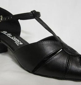 GO GO DANCE BLACK LEATHER-T-STRAP<br />