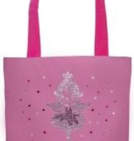 SASSI Ballet Girl Tote with Crystal and Pink Rhinestones