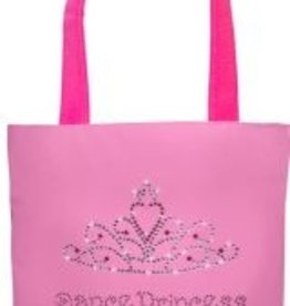 SASSI Dance Princess Tote with Crystal and Pink Rhinestones
