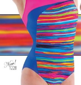 MOTIONWEAR Gym Curved Front Double X-Back Leo