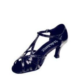 GO GO DANCE Black Leather / Reptile / Unique Special T-Strap.
