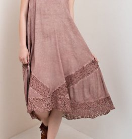 Lace Detail Medi Dress